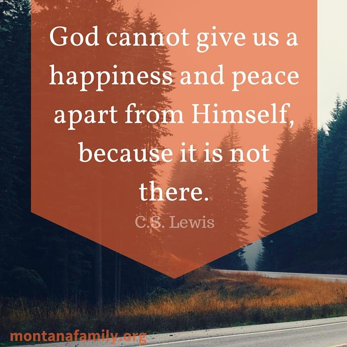 C.S. Lewis on Happiness and Peace